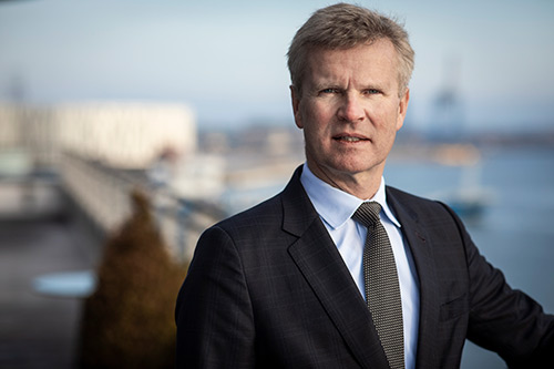Portrait of Henrik Mulvad, CEO of KPMG Denmark